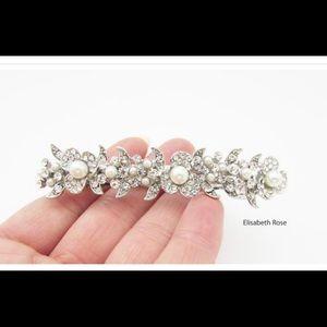 *NEW* Bridal Crystal and Pearl Hair Clip